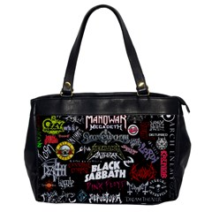 Metal Bands College Office Handbags by Samandel