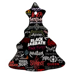 Metal Bands College Christmas Tree Ornament (two Sides) by Samandel