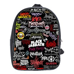 Metal Bands College School Bag (xl)
