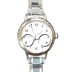 Harry Potter Inspired Lightning Glasses Symbol Round Italian Charm Watch