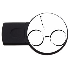 Harry Potter Inspired Lightning Glasses Symbol Usb Flash Drive Round (4 Gb)