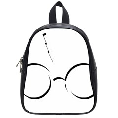 Harry Potter Inspired Lightning Glasses Symbol School Bag (small)