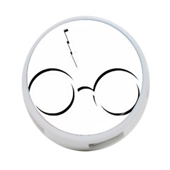 Harry Potter Inspired Lightning Glasses Symbol 4 Port Usb Hub (one Side)