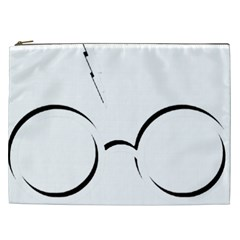 Harry Potter Inspired Lightning Glasses Symbol Cosmetic Bag (xxl)