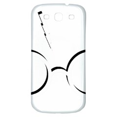 Harry Potter Inspired Lightning Glasses Symbol Samsung Galaxy S3 S Iii Classic Hardshell Back Case