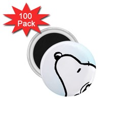 Snoopy Love 1 75  Magnets (100 Pack)