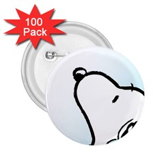 Snoopy Love 2 25  Buttons (100 Pack)
