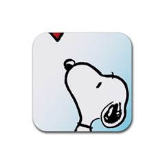 Snoopy Love Rubber Square Coaster (4 Pack)