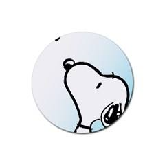 Snoopy Love Rubber Round Coaster (4 Pack)