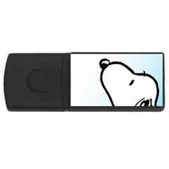 Snoopy Love Rectangular Usb Flash Drive