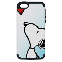 Snoopy Love Apple Iphone 5 Hardshell Case (pc+silicone)