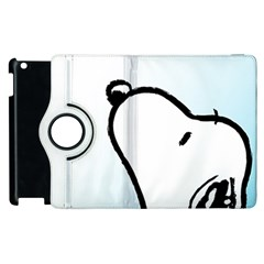 Snoopy Love Apple Ipad 3/4 Flip 360 Case