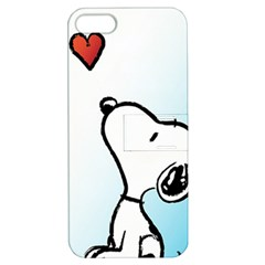 Snoopy Love Apple Iphone 5 Hardshell Case With Stand