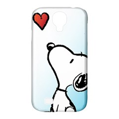 Snoopy Love Samsung Galaxy S4 Classic Hardshell Case (pc+silicone)