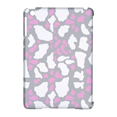 Pink Grey White Cow Print Apple Ipad Mini Hardshell Case (compatible With Smart Cover)
