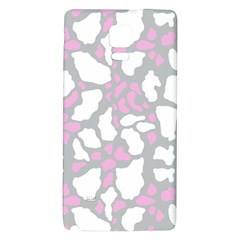 Pink Grey White Cow Print Galaxy Note 4 Back Case