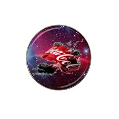 Coca Cola Drinks Logo On Galaxy Nebula Hat Clip Ball Marker