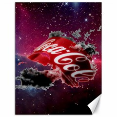 Coca Cola Drinks Logo On Galaxy Nebula Canvas 18  X 24