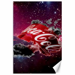 Coca Cola Drinks Logo On Galaxy Nebula Canvas 24  X 36  by Samandel