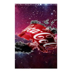Coca Cola Drinks Logo On Galaxy Nebula Shower Curtain 48  X 72  (small)