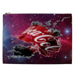 Coca Cola Drinks Logo On Galaxy Nebula Cosmetic Bag (xxl)