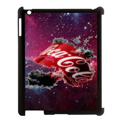Coca Cola Drinks Logo On Galaxy Nebula Apple Ipad 3/4 Case (black)