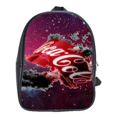 Coca Cola Drinks Logo On Galaxy Nebula School Bag (xl) by Samandel