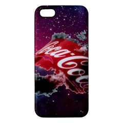 Coca Cola Drinks Logo On Galaxy Nebula Apple Iphone 5 Premium Hardshell Case