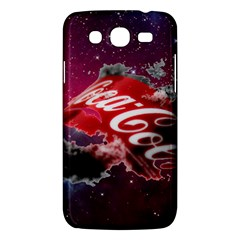 Coca Cola Drinks Logo On Galaxy Nebula Samsung Galaxy Mega 5 8 I9152 Hardshell Case