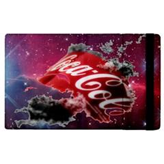 Coca Cola Drinks Logo On Galaxy Nebula Apple Ipad Pro 9 7   Flip Case by Samandel