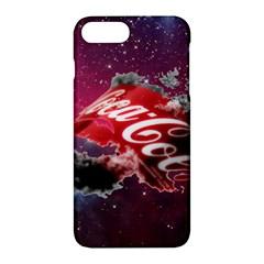 Coca Cola Drinks Logo On Galaxy Nebula Apple Iphone 7 Plus Hardshell Case