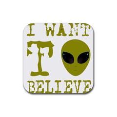 I Want To Believe Rubber Coaster (square)