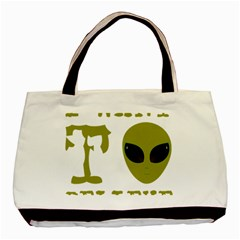 I Want To Believe Basic Tote Bag