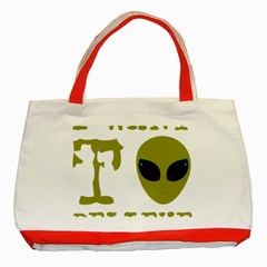 I Want To Believe Classic Tote Bag (red)