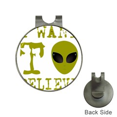 I Want To Believe Hat Clips With Golf Markers
