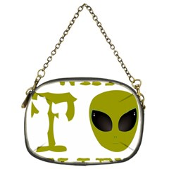 I Want To Believe Chain Purses (one Side)