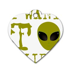 I Want To Believe Dog Tag Heart (one Side)