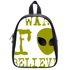 I Want To Believe School Bag (small)
