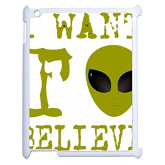 I Want To Believe Apple Ipad 2 Case (white)