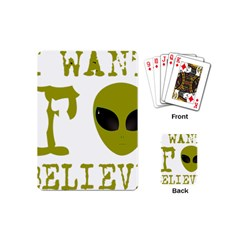 I Want To Believe Playing Cards (mini)