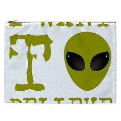I Want To Believe Cosmetic Bag (xxl)