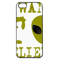 I Want To Believe Apple Iphone 5 Seamless Case (black) by Samandel
