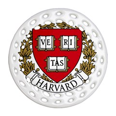 Harvard University Logo Ornament (round Filigree) by Samandel