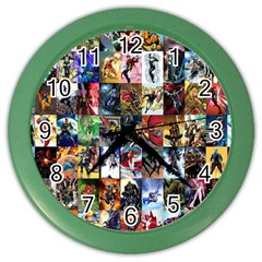 Comic Book Images Color Wall Clocks by Samandel