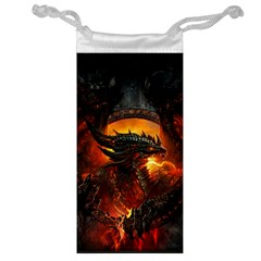 Dragon Legend Art Fire Digital Fantasy Jewelry Bags by Samandel