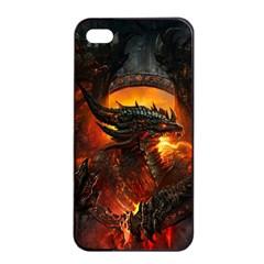 Dragon Legend Art Fire Digital Fantasy Apple Iphone 4/4s Seamless Case (black) by Samandel