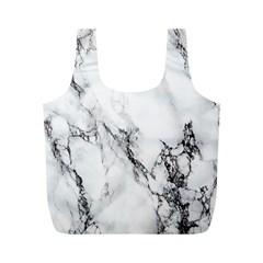 Marble Pattern Full Print Recycle Bags (m)  by Samandel