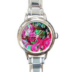 Flamingo   Child Of Dawn 1 Round Italian Charm Watch by bestdesignintheworld