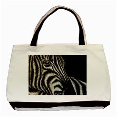 Zebra Basic Tote Bag (two Sides) by ArtByThree