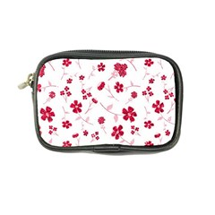 Sweet Shiny Floral Red Coin Purse by ImpressiveMoments